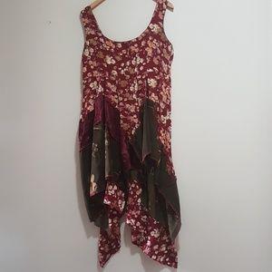 "Upcycled Mia Baggali ""art wear"" dress"